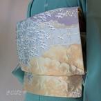 正絹 渡り鶴の袋帯