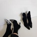 予約注文商品 トゥーポイントアンクルブーツ アンクルブーツ 韓国ファッション