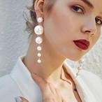 IPARAM トレンド シミュレーション 真珠 ロング ピアス 女性 白 ラウンド パール 結婚式 ファッション 韓国 ジュエリー SKU-IPA-1744