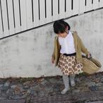 リバティスカート 紺の花