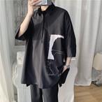 男女兼用  夏 シンプルシャツ 原宿 韓国ファッション ゆったり カジュアル Tシャツ