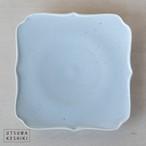 [幾田 晴子]白瓷 四稜花5寸皿