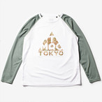 Mountain Martial Arts / TMRC Logo Long Sleeve Tee 《White Khaki》
