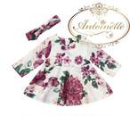 赤ちゃん用 洋服 ベビー服 60 70 80 90 花柄 長袖 秋冬 かわいい