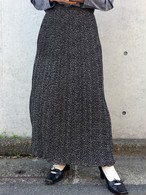 (PAL) pleats reversible long skirt