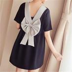 【dress】背中を綺麗に魅せる 結び可愛いワンピース 22490172