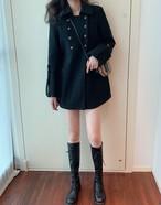 ハーフダブルコート ダブルコート コート 韓国ファッション