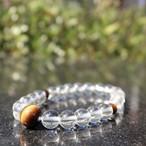 水晶 虎目石仕立て(Crystal&Tiger eye stone)