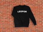 LEOPON logo sweat black