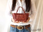 小さなトートバッグ Redbrown bag-107