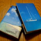 海のブックカバー(ぺあ)