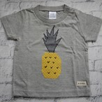 【kitoco.】アップリケのキッズTシャツ(パイナップル・90)