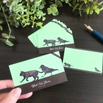 魔女の庭 ミニカード10枚セット(チョコミント)