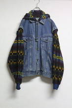 80's BUGLE BOY DENIM切り替えJKT
