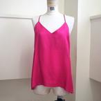 【hippiness】cupro  Vneck camisole(pink) /【ヒッピネス】キュプラ Vネック キャミソール(ピンク)