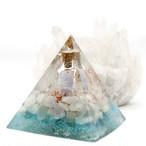 【受注製作】振ると音がなる♪ピラミッド型Ⅱ 小瓶入りオルゴナイト ムーンストーン&アパタイト