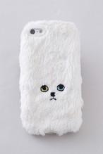 ネコiPhone5/5c/5sカバー 【ホワイト】