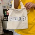 [OB-05] HELLO 巾着バッグ