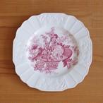 イギリス アンティーク 食器 陶器 ミヨット プリマス ピンク フルーツ柄 花柄 デザートプレート 角皿 20cm #201002-3 Myott Sons.&Co. Plymouth ヴィンテージ バスケット