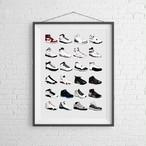 【Nike Air Jordan】スニーカーポスター:エアジョーダン シリーズ / 11x14サイズ:27.94cm x 35.56cm