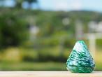沖縄の思い出ペーパーウェイト(海とサンゴ) 琉球ガラス工房 雫