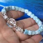 虹のアイリス&カリブ海の宝石ラリマー