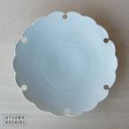 [幾田 晴子]白瓷 雪輪6寸皿