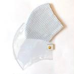 PVCマスクカバー&夏用マスクセット (M・L サイズ) blue ボーダー
