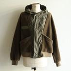 H.UNIT【 mens 】boa fleece switching jacket