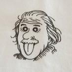 「アインシュタイン」ロングスリーブTシャツ ホワイト