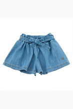 tocoto vintage Denim wide shorts with belt