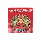 I'M A BIG FAN OF FC RYUKYU カー・マグネット(レッド)