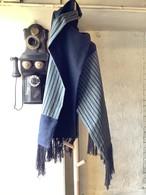 二種類の絹紬のマフラー 21MF002