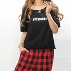 Frontロゴ/ビンテージ風Tシャツ
