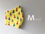 【M】プレゼント☆手作り立体マスク コットン×ガーゼ イエロー Mサイズ