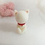 【お座り白猫】お部屋のインテリアに / プレゼントとしてもおしゃれ