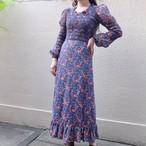 70's Flower maxi dress/70年代 フラワー マキシ丈 ドレス