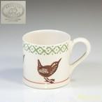 ポーランドスポンジウェアマグカップ大小鳥T1389