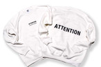 BIG LOGO sweat / ATTENTION 白