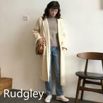韓国ロングポケットロングカーディガンアウターコート