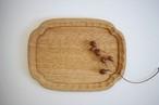 松下由典|木瓜形彫りトレー(栗材)