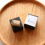 お手紙の隅を飾ってくれる コーナー型はんこ「花」