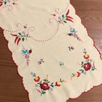 パプリカと小花たち カロチャ刺繍