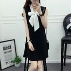 【dress】キャンパスリボンカラースウィートしゃれど満々ワンピース 22169396