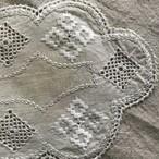 スウェーデンの雲形の刺繍の布