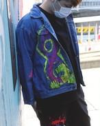 Character paint denim jacket