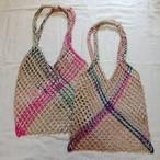 タイの手編みジュートバッグ
