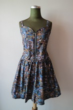 Summer dress set up -BLUE-