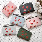 【オーダー商品】刺繍 チェリー さくらんぼ 財布 ファッション 韓国 可愛い ガーリー 人気 小物