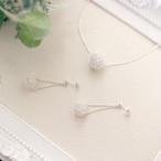 [福袋2019][silver999]純銀クロッシェボールのネックレス&ピアス(イヤリング)セット
